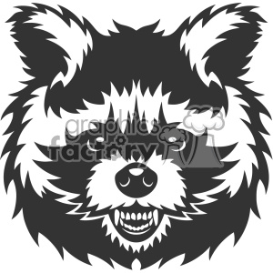 angry raccoon head vector art clipart. Royalty-free image # 403159
