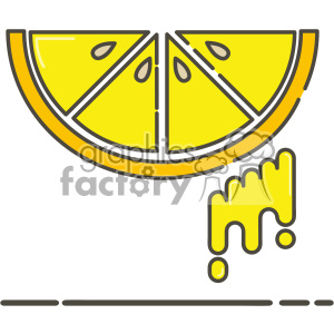 Lemon flat vector icon design clipart. Royalty-free image # 403179