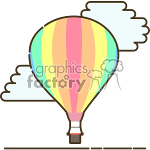 Hot air ballon flat vector icon design clipart. Royalty-free icon # 403199