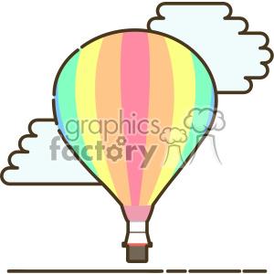 Hot air ballon flat vector icon design clipart. Commercial use icon # 403199