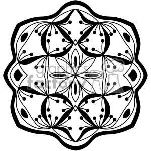 mandala geometric vector design 017 clipart. Royalty-free image # 403240