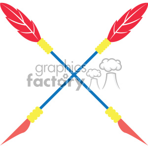 colored crossed arrow vector design 07 clipart. Royalty-free image # 403280