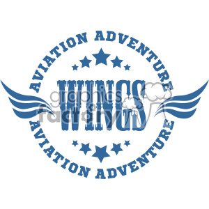 aviation adventure wings vector logo template clipart. Commercial use image # 403290