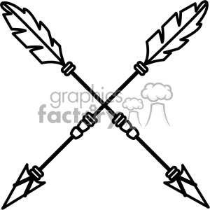arrows crossed vector design 04 clipart. Royalty-free image # 403320