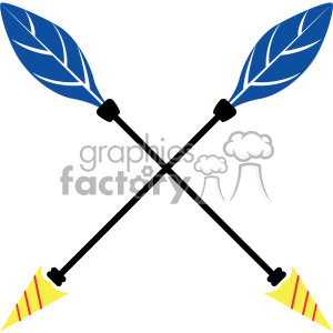colored crossed arrow vector design 08 clipart. Royalty-free image # 403330