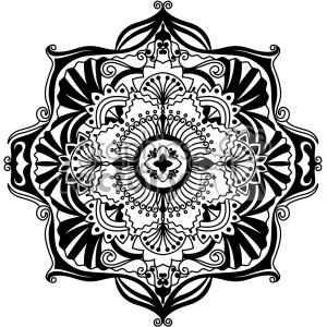 mandala vector art clipart. Commercial use image # 403340