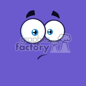 10884 Royalty Free RF Clipart Surprisingly Cartoon Funny Face With Expression Vector With Purple Background clipart. Royalty-free image # 403657