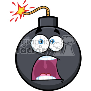 10822 Royalty Free RF Clipart Funny Bomb Face Cartoon Mascot Character With Expressions A Panic Vector Illustration clipart. Royalty-free image # 403662