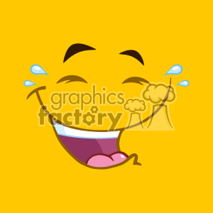 10899 Royalty Free RF Clipart Laugh Cartoon Square Emoticons With Smiley Expression Vector With Yellow Background clipart. Commercial use image # 403672