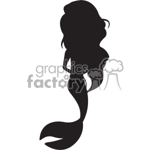 mermaid silhouete svg cut file 1 clipart. Royalty-free image # 403730