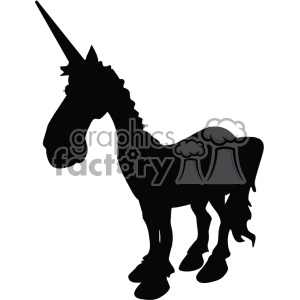 unicorn silhouete svg cut file 1 clipart. Royalty-free image # 403740
