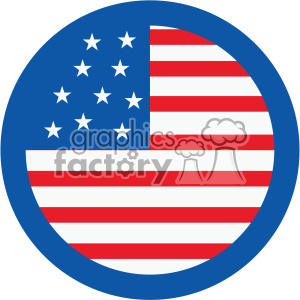 4th of july USA flag vector icon