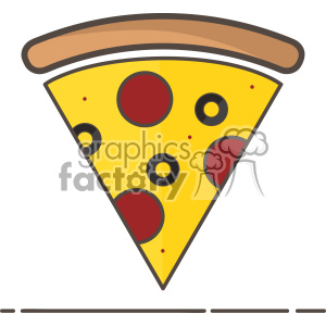 Pizza vector clip art icon clipart. Commercial use image # 403841