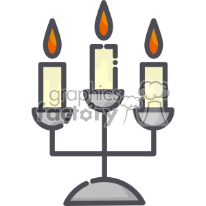 Candlesticks clip art vector images clipart. Royalty-free image # 403866