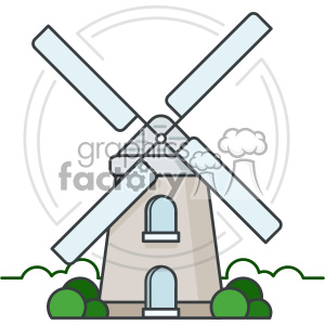 Windmill vector clip art images clipart. Royalty-free image # 403899