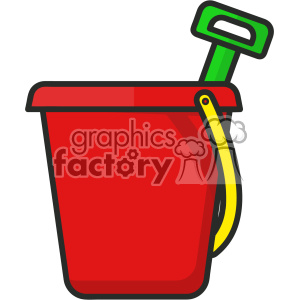 Beach bucket clip art vector images clipart. Royalty-free icon # 403918