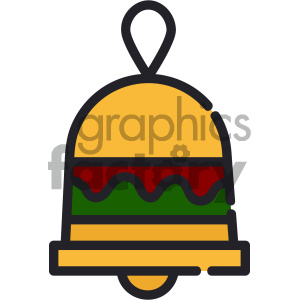christmas bell vector icon clipart. Commercial use image # 403990