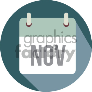 november calendar vector icon clipart. Royalty-free image # 403996