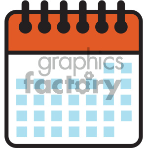 blank calendar days vector icon clipart. Royalty-free image # 404007