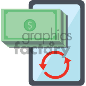 mobile device commerce vector icon clipart. Royalty-free image # 404047