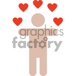 person in love valentines vector icon