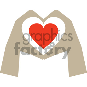 hands shaped like heart valentines vector icon clipart. Royalty-free image # 404077