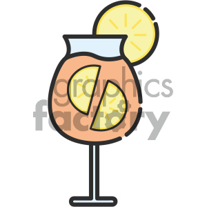 Cocktail vector art clipart. Royalty-free image # 404115