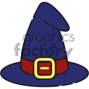 Witch Hat vector art clipart. Royalty-free image # 404127
