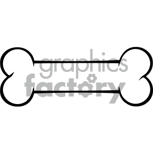 Royalty Free RF Clipart Illustration Black And White Outlined Dog Bone Cartoon Drawing Vector Illustration Isolated On White Background clipart. Commercial use image # 404243
