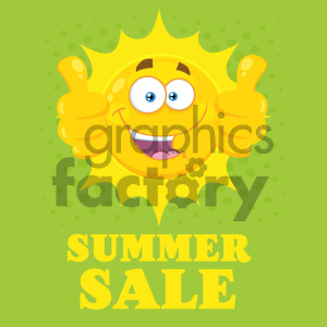 sun sunshine summer mascot character cartoon summer+sale sale thumbs+up