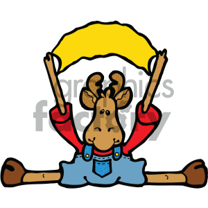 cartoon clipart moose 021 c clipart. Royalty-free image # 404825
