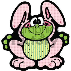 cartoon clipart bunny 002 c clipart. Royalty-free image # 404833