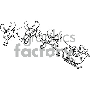 cartoon clipart moose 23 bw clipart. Royalty-free image # 404853