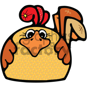 cartoon gumdrop chicken clipart. Commercial use image # 404899