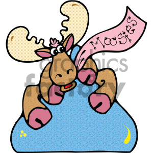 cartoon clipart moose 015 c clipart. Commercial use image # 404959