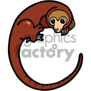 cartoon animals vector PR cuscus
