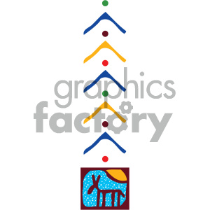 cartoon buildings architecture vector history ancient egypt egyptian tattoo tribe tribal PR