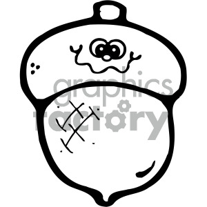 cartoon outline of acorn clipart. Commercial use image # 405091