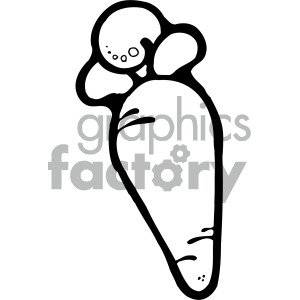 black and white carrot clipart. Commercial use image # 405117