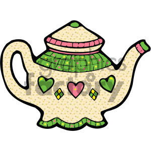 cartoon teapot vector art clipart. Royalty-free image # 405126