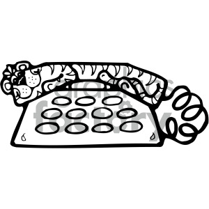 black white telephone clipart. Royalty-free image # 405136