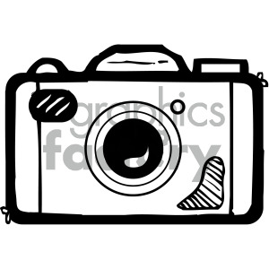 black white camera art clipart. Royalty-free image # 405158