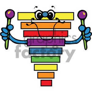 cartoon xylophone vector art clipart. Royalty-free image # 405192