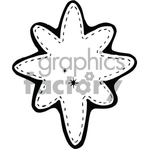 black white north star clipart. Royalty-free image # 405211