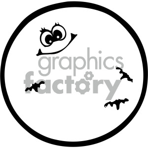 moon black white image clipart. Royalty-free image # 405216