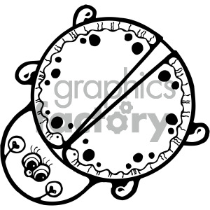 ladybug cartoon outline clipart. Royalty-free image # 405242
