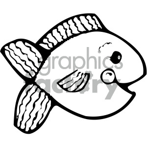 cartoon vector fish 005 bw clipart. Royalty-free image # 405270