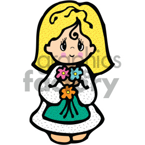 cartoon people human character cute girl female child children