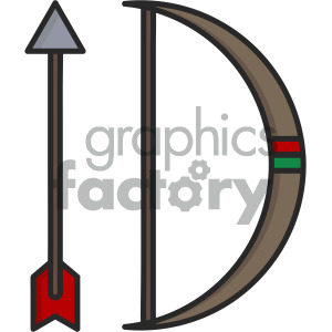 bow and arrow clipart. Royalty-free image # 405403