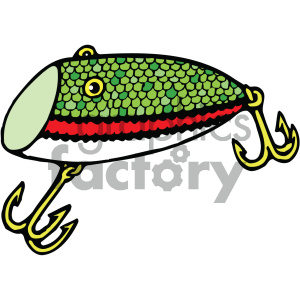 fishing lure 002 vector image clipart. Royalty-free image # 405448